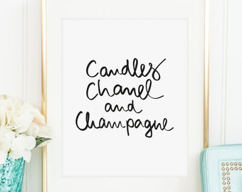 Poster, Print, Wallart: Candles, Chanel and Champagne