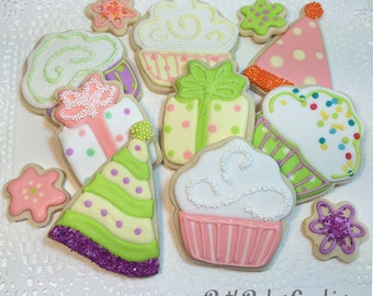 Birthday, Congratulations, Celebration Cookies