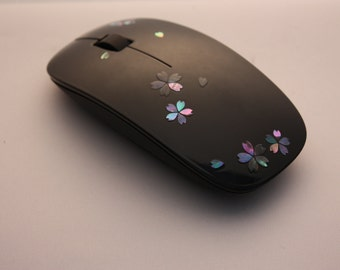 Japan RADEN Design 2.4 GHz Wireless Laser Mouse Black for PC / Laptop