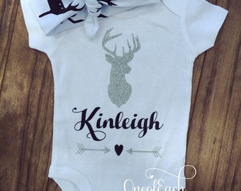 Personalized Deer Bodysuit