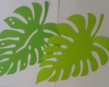 Wild/ jungle leaves/safari/table decorations/background prop/baby shower/ birthday/party decoration/leaf cutouts/die cuts