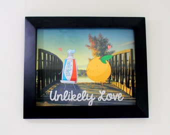 Unlikely Love Art Print: Toothpaste and Orange