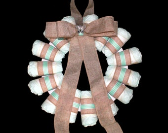 Baby Green Nappy Wreath