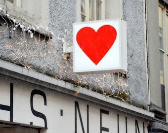 Sweet Heart Photograph, Red Heart Photo, Love Wall Art,  Swiss Heart Print, Bedroom Decor, Heart Image, Hanging Heart Decor.