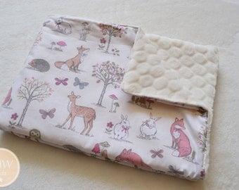 Woodland Baby Blanket, baby gift, newborn, toddler, soft blanket, pram blanket