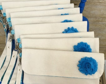 Brides Maids gift, Wristlet, Brides, Clutch, Maid of honer, birthday gift,moms gift. Pouch