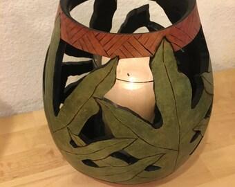 Lau'ae Fern Patio Candle Sconce
