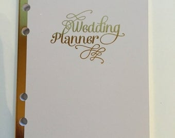 Wedding Planner Insert for Recollections Planner