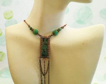 Art Deco Necklace with Birds