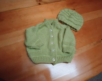 Baby Cardigan with hat
