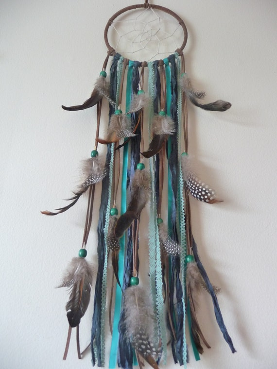Earth tone dream catcher recycled materials for Materials to make a dreamcatcher