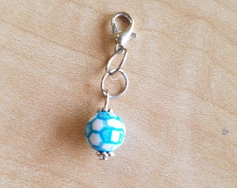 8 Pieces - Soccer Ball Zipper Pulls