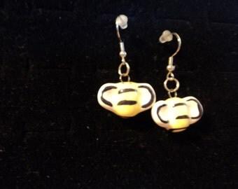 glass bumble bee earrings