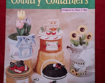 Plastic Canvas Country Containers - Pattern Book