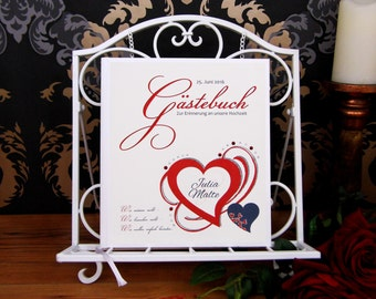 Hardcover guestbook in book binding * personalized *.