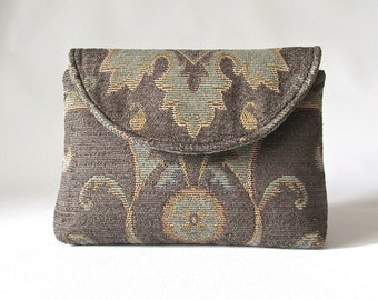 Tapestry bag, boho clutch purse, floral medallion clutch, handbags online, boho bag, hippie clutch bags, street fashion, taupe clutch