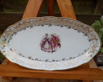 Ravier porcelain of chauvigny, former ravier, small dish