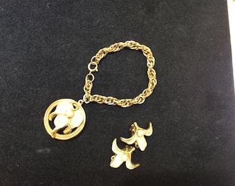 Vintage Kramer bracelet and earrings