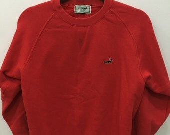 Vintage 90's Crocodile Design Skate Sweat Shirt Sweater Varsity Jacket Size L #A20