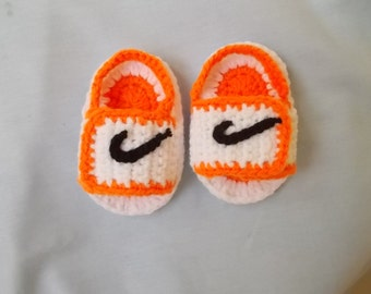 CROCHET PATTERN, Baby pattern, Baby Shoes pattern, Crochet Baby Booties, Sneakers baby pattern, baby nike, Nike Shoes, Crochet Tennis Shoes,
