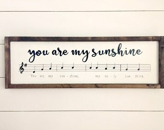 Framed Sign You Are My Sunshine | Wood Sign with Music