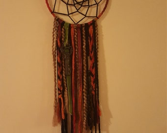 Dream Catcher - Orange - Brown - Neautrals - Boho - Doilie