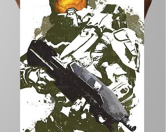 Master Chief, Halo, Halo 4, Spartan 117, Gamer art, Geek, Geek Culture, Gamer Posters