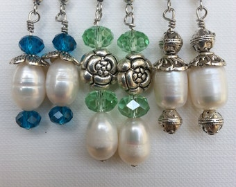 3 pairs of genuine Freshwater pearl earrings.