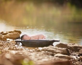 Newborn Photography digital drop prop background (creek 2)