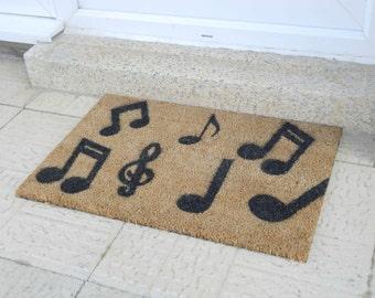Music Notes Doormat - Musician Gift