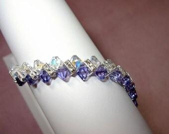 Sterling silver Swarovski bracelets