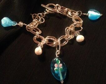 Sterling Silver Handmade Charm Bracelet