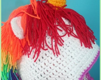 Unicorn hat, crochet hat