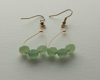 Green Jade Drop Earring