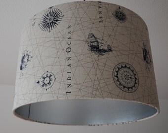 "Ceiling Lampshade ""Indian Ocean"""