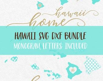 Hawaii Svg Bundle svg monogram frames svg fonts files for silhouette svg files for cricut svg files svg monogram svg mermaid pattern svg