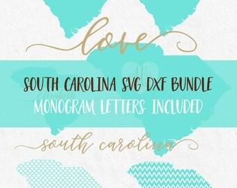 South Carolina Svg Dxf Bundle svg fonts svg monogram frames svg monograms svg files for silhouette svg files for cricut svg files mermiad