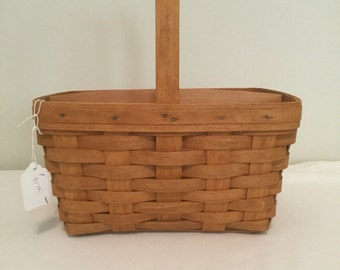 Longaberger Spring Basket with divider 1994 (10928/41181)