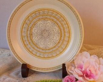 Vintage Franciscan Earthenware Hacienda Gold Salad Plate, 1960s Pottery, Retro