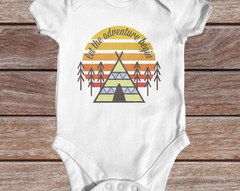 Let The Adventure Begin baby bodysuit | cute baby clothes | baby shower gift | boho baby clothes | newborn baby bodysuit | take home outfit