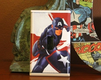 Captain America Switchplate Cover