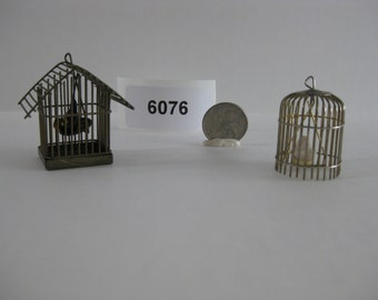 Two Bird Cages with Birds 6076