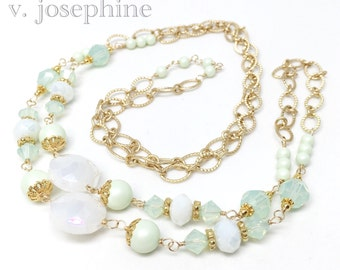The Julia Necklace in Sea Foam