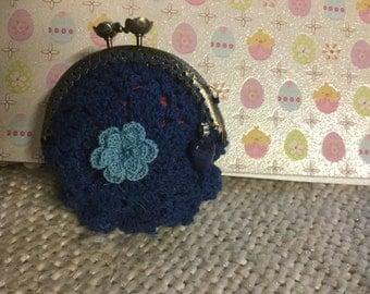 Hand crochet coin purse