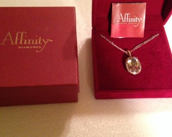 Champagne Diamond & Lime Quartz Pendant Necklace