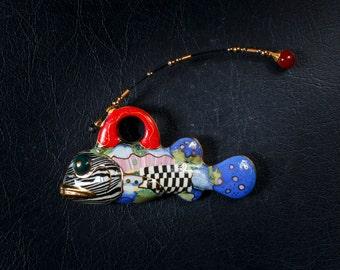 Vintage Cynthia Chuang Jewelry 10 Fish Pin