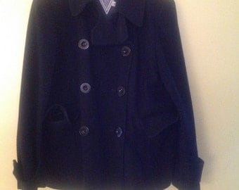 Double Breasted Pea Coat - Plus Size