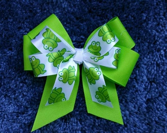 Freddy the Frog Double Hairbow