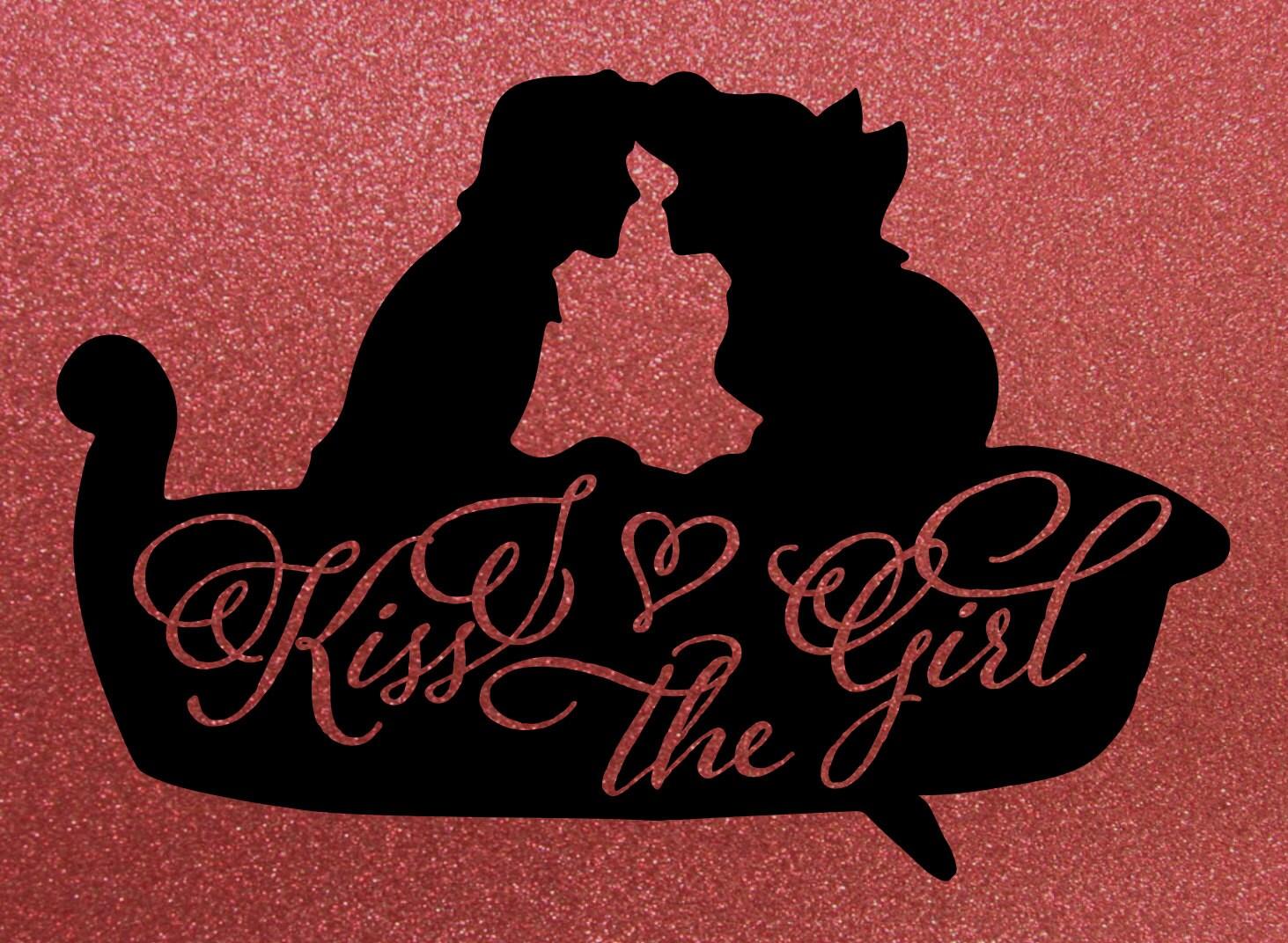 Kiss The Girl Little Mermaid Eric Ariel Silhouette Vinyl IRON ON