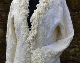 Nuno-Felted Coat Haute Couture High Fashion